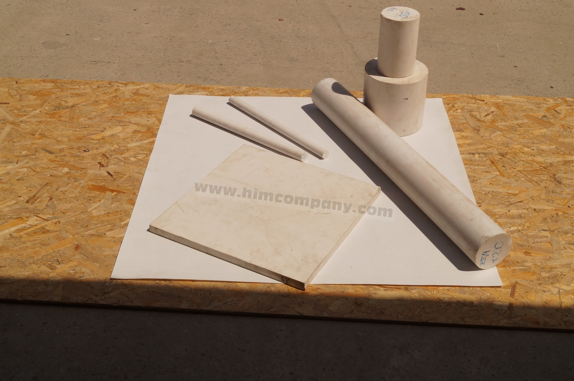 Фторопласт листовой 15 мм (1000х1000 мм, вес~32 кг.)